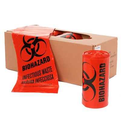24 x 24, Red Biohazard Infectious Waste Liners
