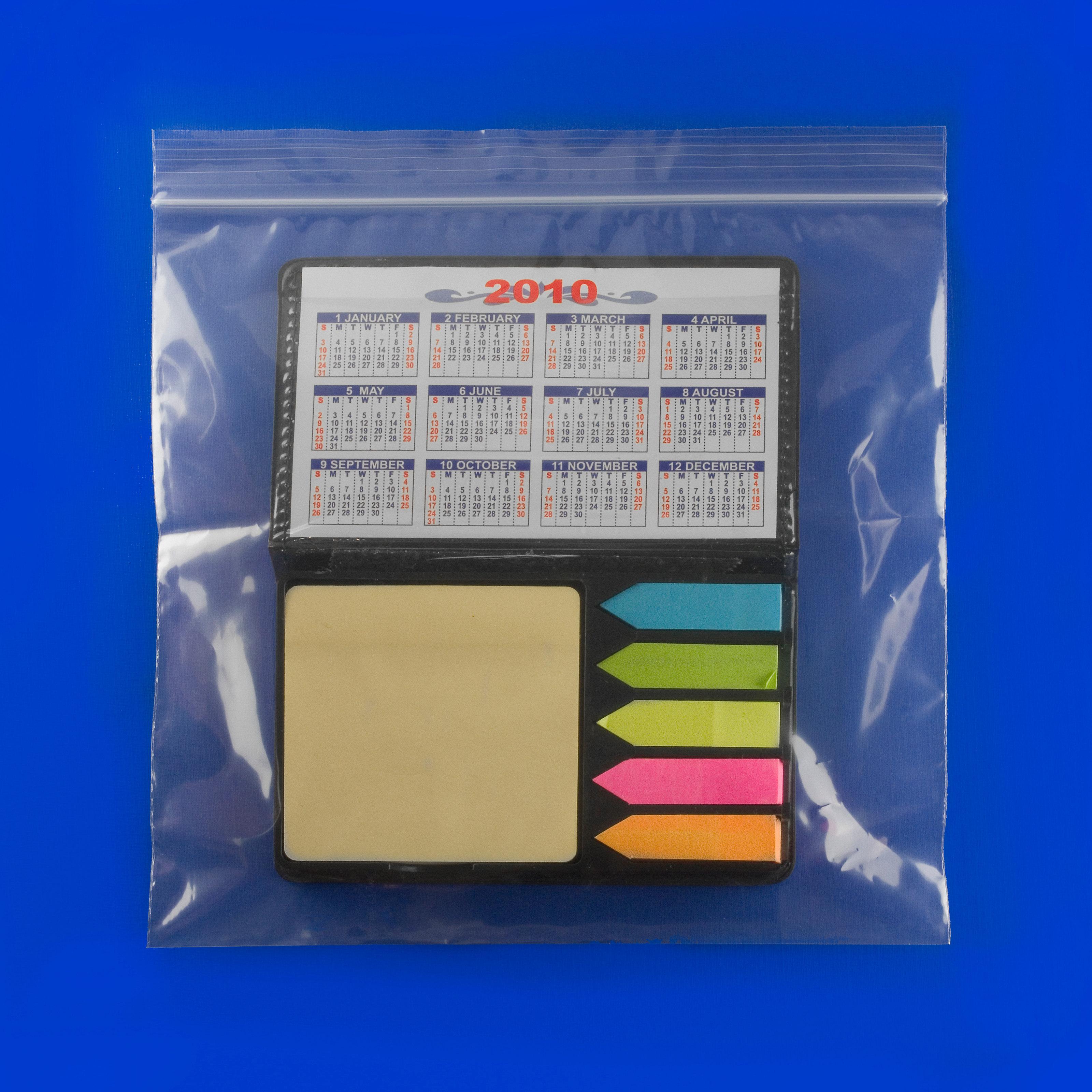 100 Plastic Zip Lock Ziplock Bags 8x5 COMPLETELY  Clear 2 Mil NEW!